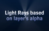 Thumbnail for: CC Light Rays based on layer's alpha