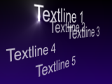 Thumbnail for: Random 3d Text fields with depth fade